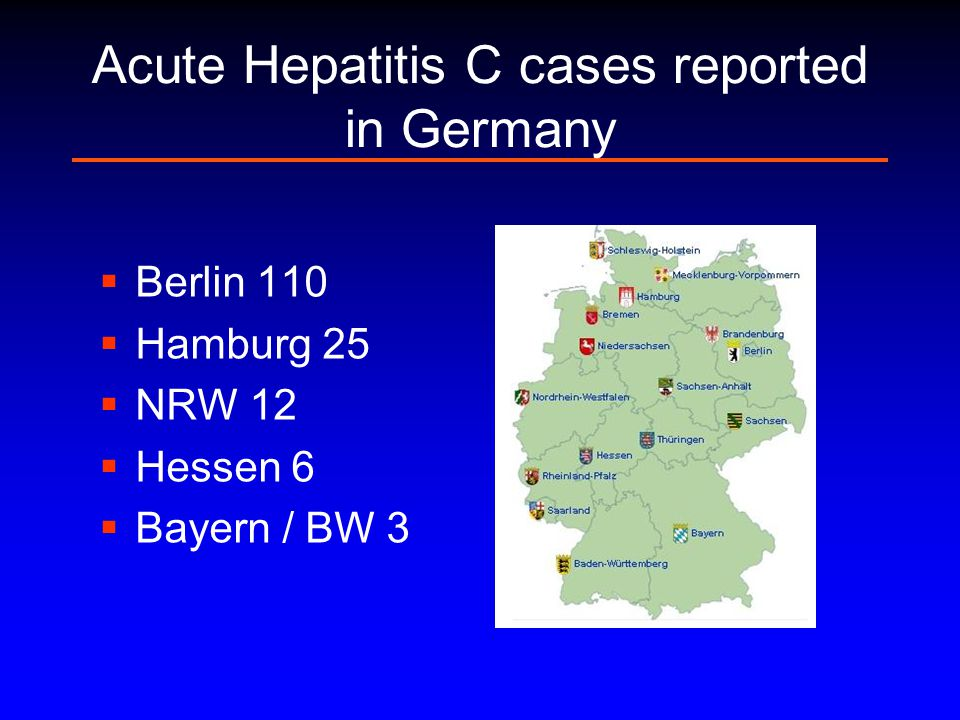 Acute Hepatitis C cases reported in Germany