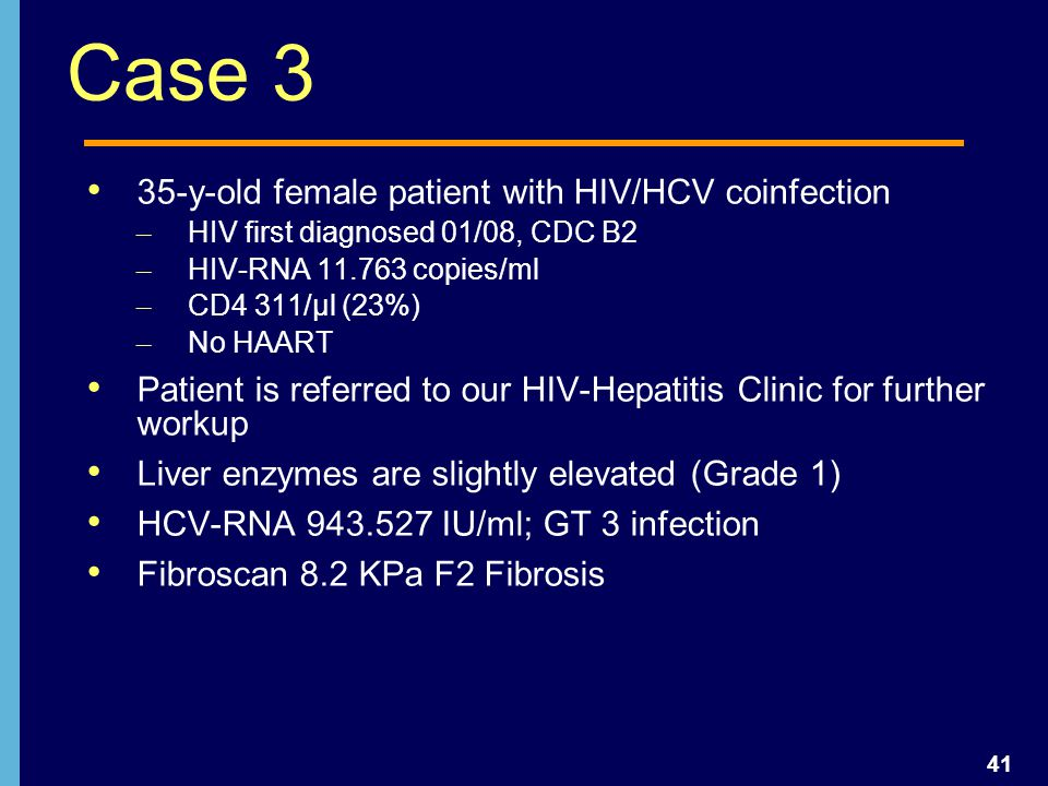 Case 3 35-y-old female patient with HIV/HCV coinfection