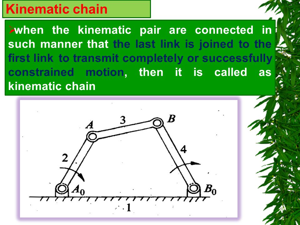 Kinematic chain