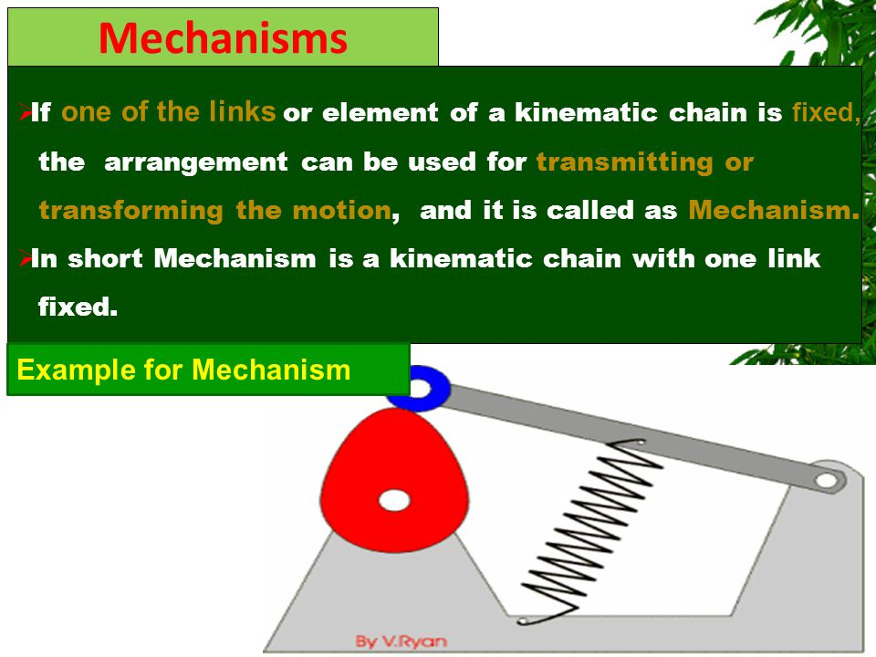 Mechanisms Example for Mechanism