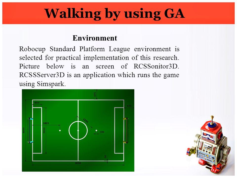 Walking by using GA Environment