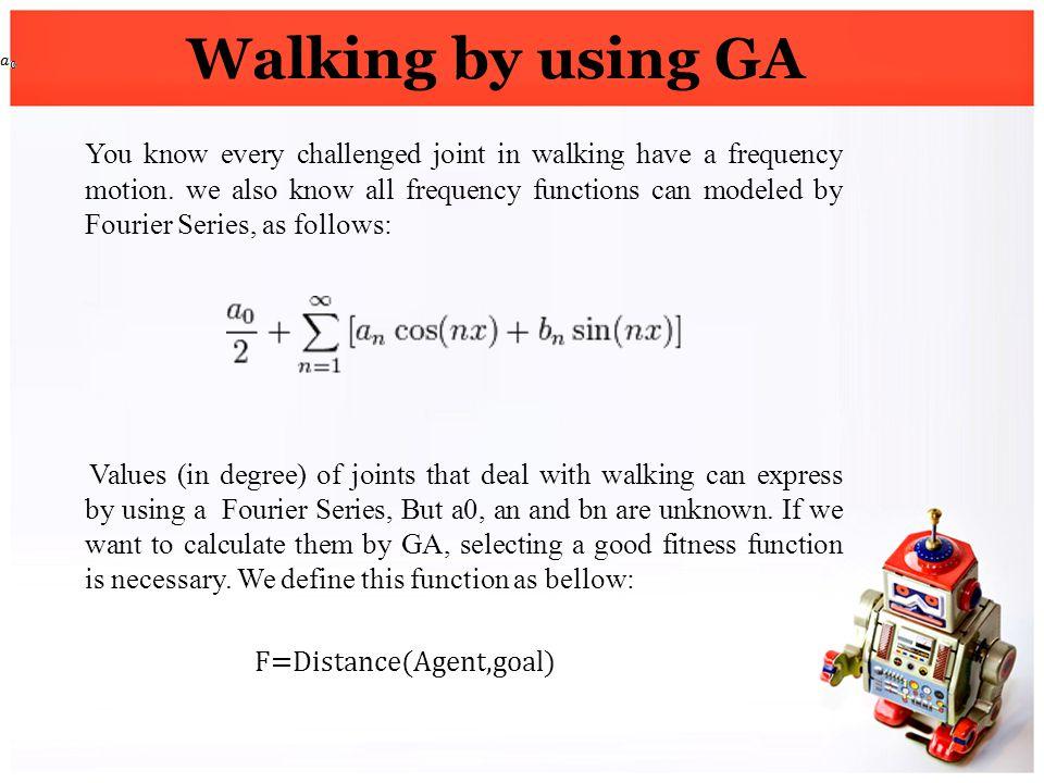 Walking by using GA
