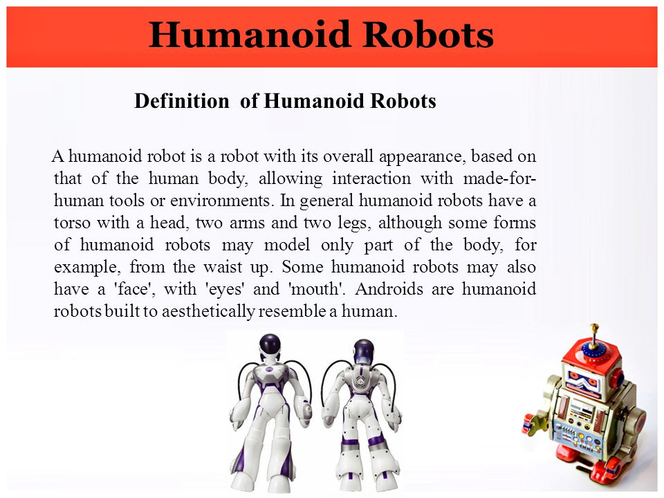 Definition of Humanoid Robots