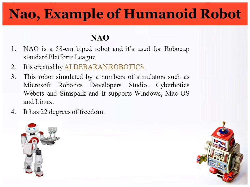 Nao, Example of Humanoid Robot