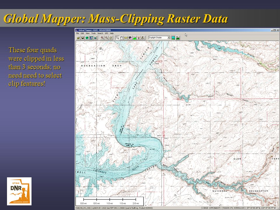 Global Mapper: Mass-Clipping Raster Data