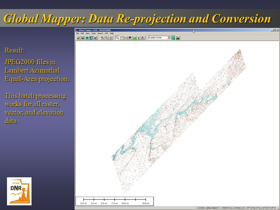 Global Mapper: Data Re-projection and Conversion