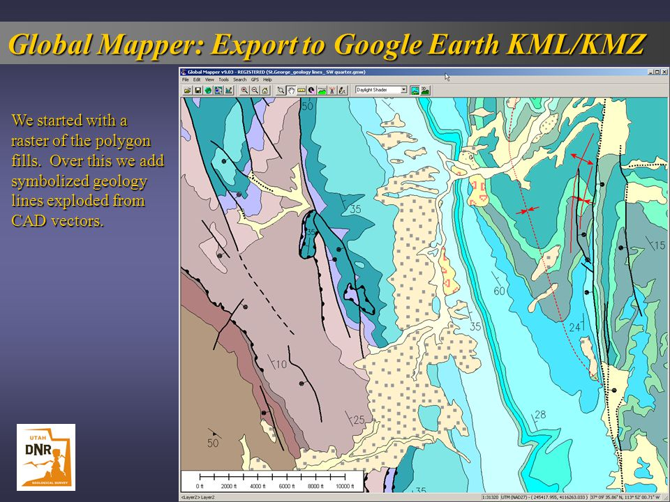 Global Mapper: Export to Google Earth KML/KMZ