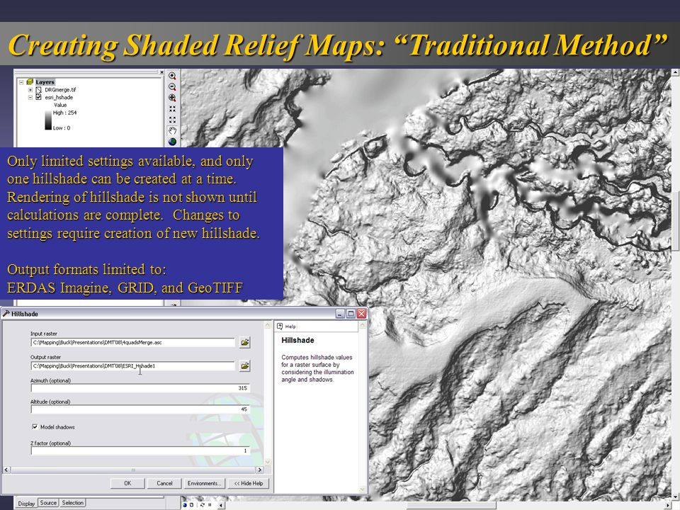 Creating Shaded Relief Maps: Traditional Method