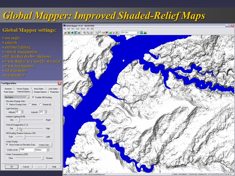 Global Mapper: Improved Shaded-Relief Maps