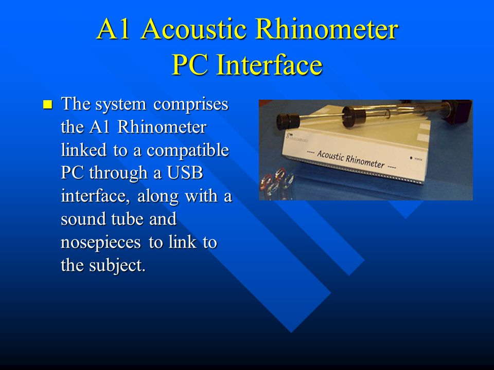 A1 Acoustic Rhinometer PC Interface