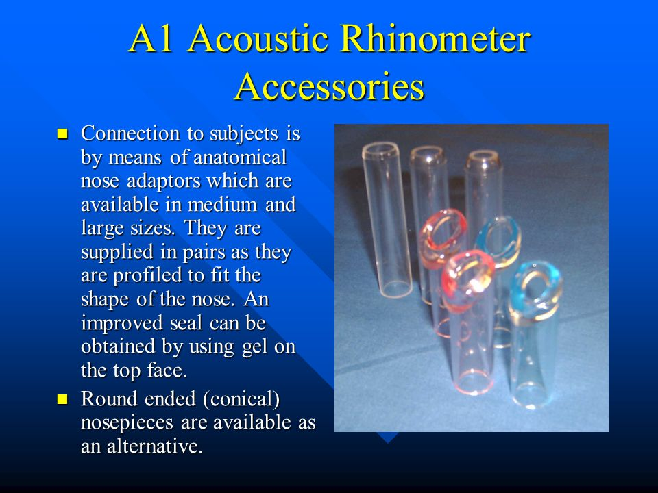 A1 Acoustic Rhinometer Accessories