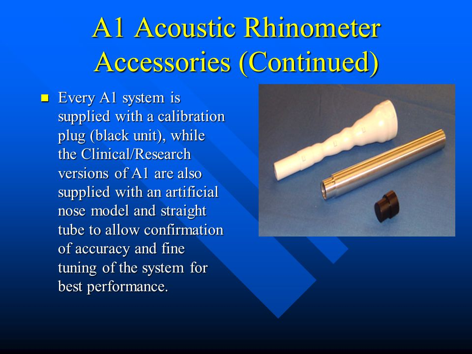 A1 Acoustic Rhinometer Accessories (Continued)