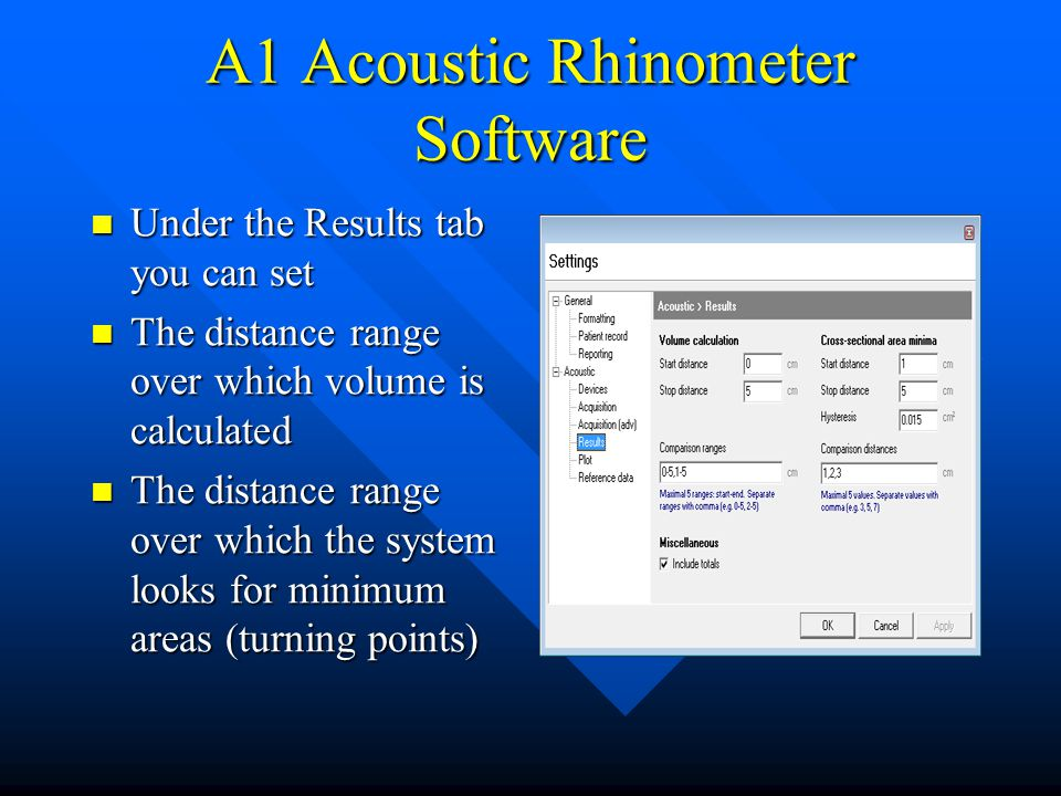 A1 Acoustic Rhinometer Software