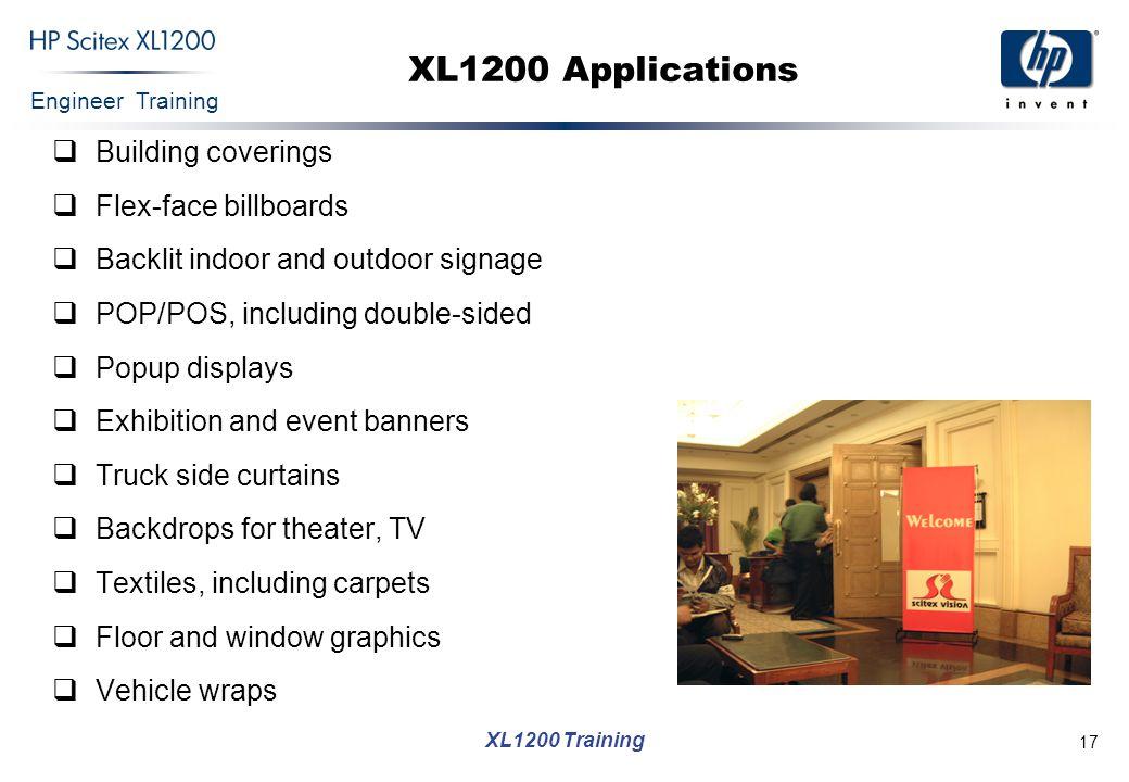 XL1200 Applications Building coverings Flex-face billboards