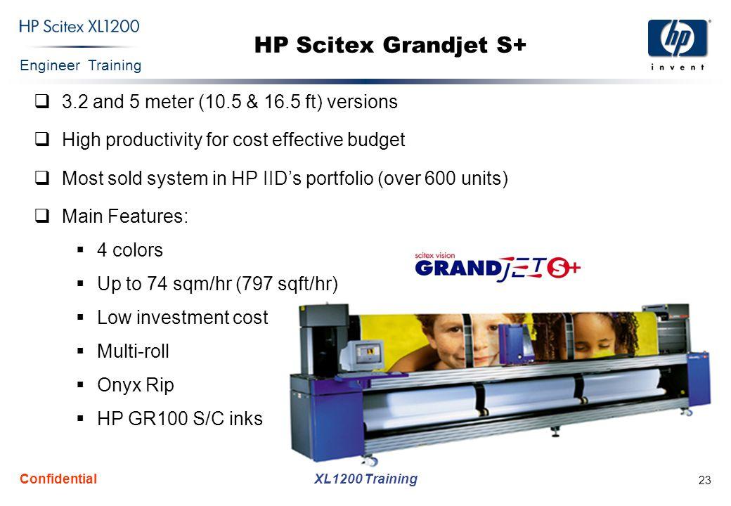 HP Scitex Grandjet S+ 3.2 and 5 meter (10.5 & 16.5 ft) versions