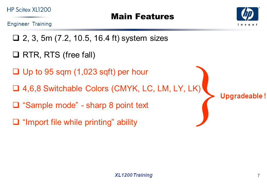 } Main Features 2, 3, 5m (7.2, 10.5, 16.4 ft) system sizes