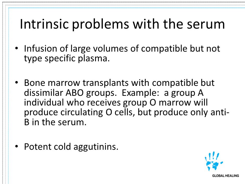Intrinsic problems with the serum