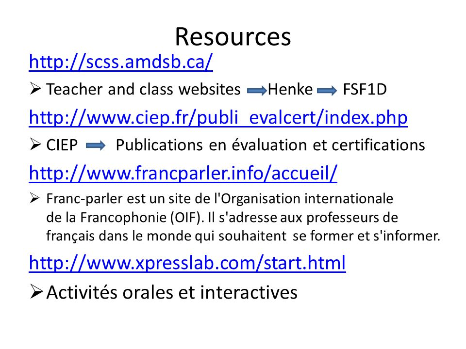 Resources http://scss.amdsb.ca/