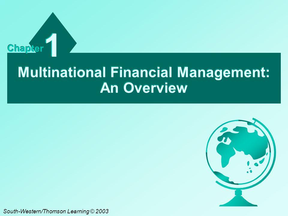 Multinational Financial Management: An Overview