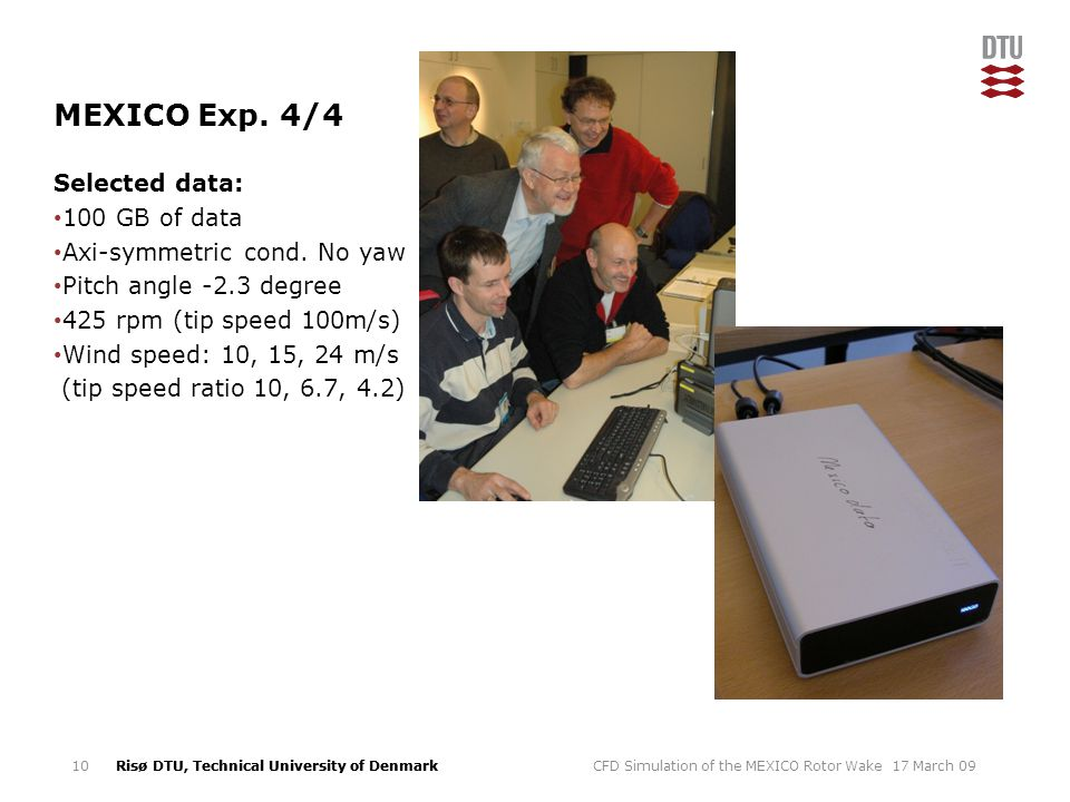 MEXICO Exp. 4/4 Selected data: 100 GB of data