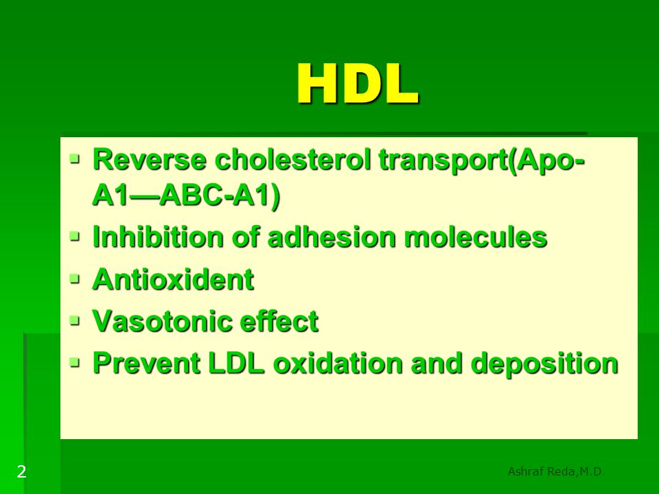 HDL Reverse cholesterol transport(Apo-A1—ABC-A1)