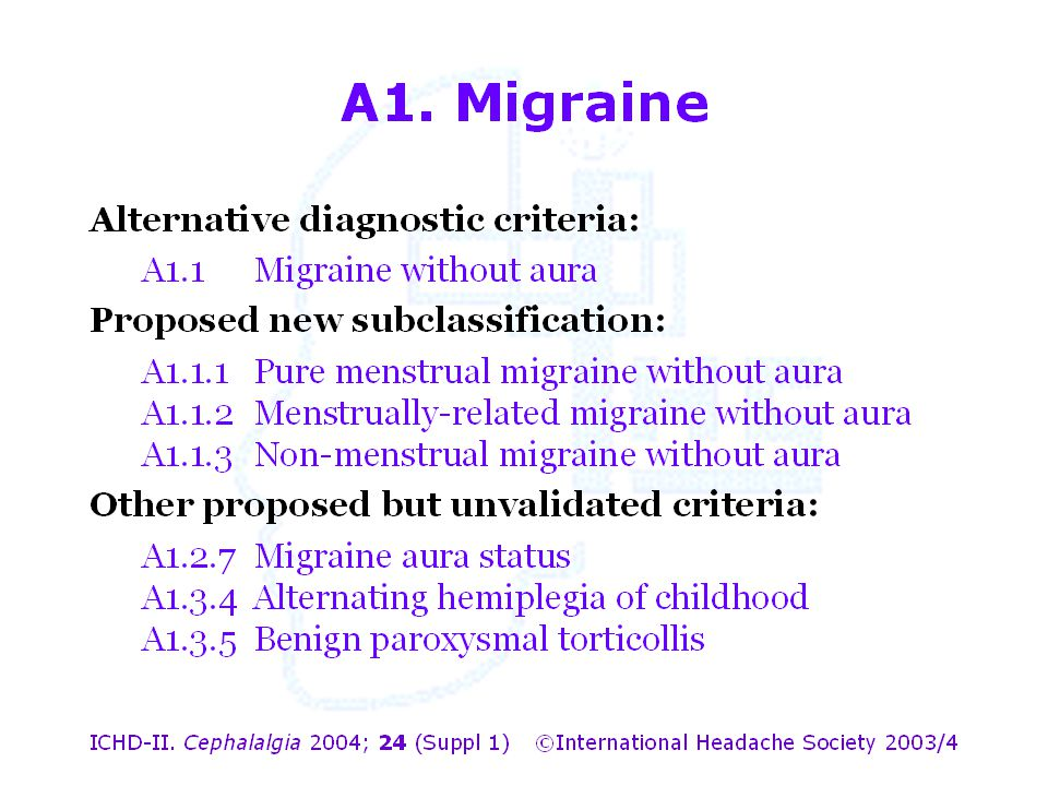 A1. Migraine