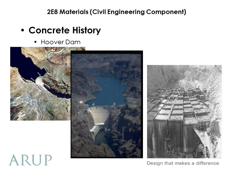 Concrete History Hoover Dam