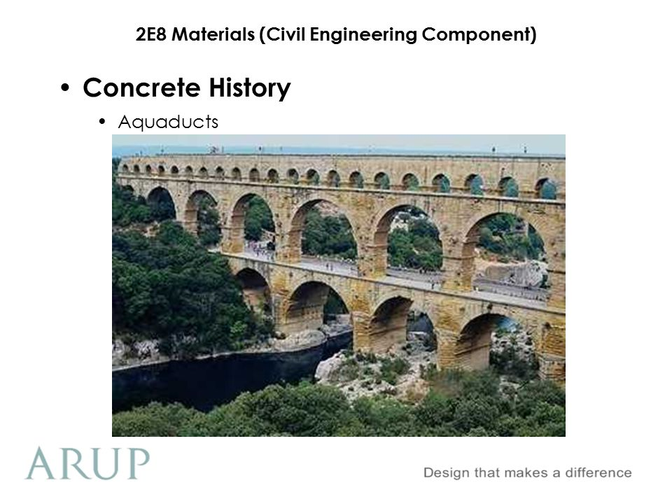 Concrete History Aquaducts