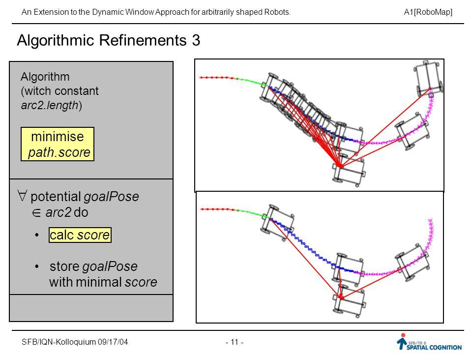 Algorithmic Refinements 3