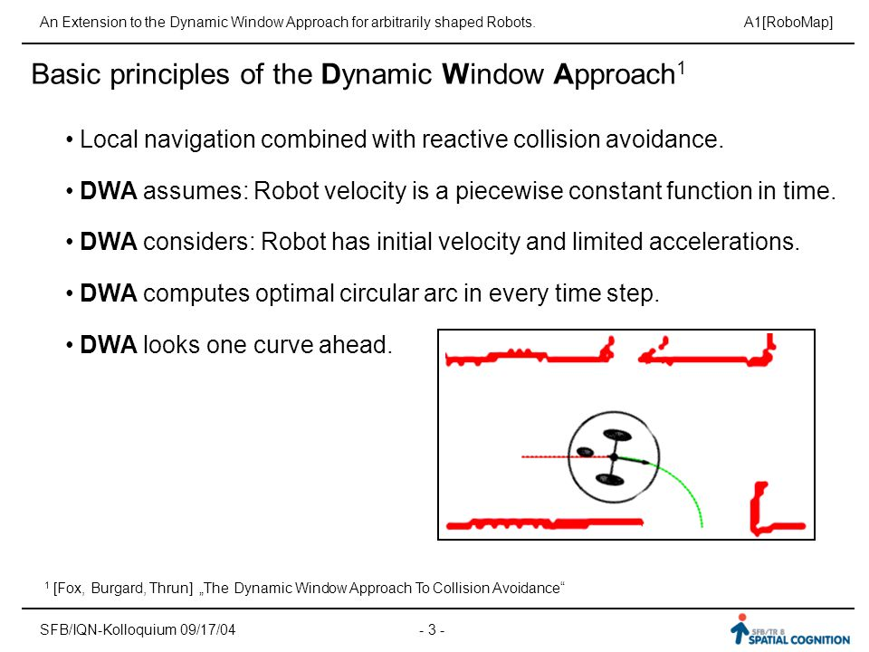 Basic principles of the Dynamic Window Approach1