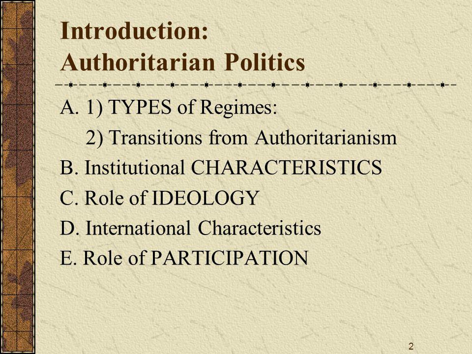 Introduction: Authoritarian Politics