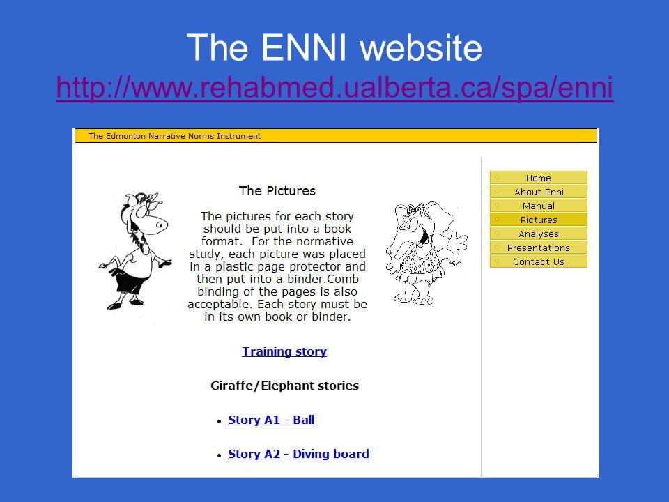 The ENNI website http://www.rehabmed.ualberta.ca/spa/enni