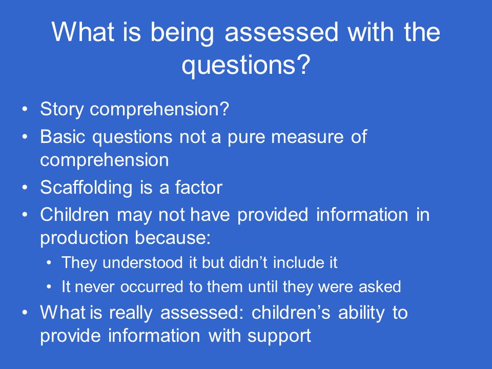 What is being assessed with the questions
