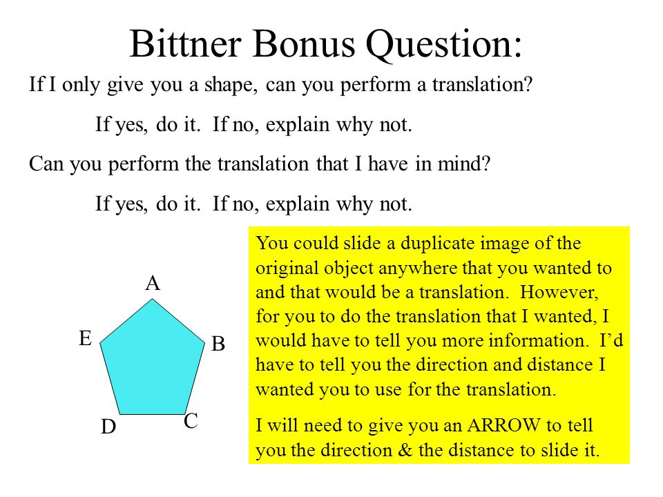 Bittner Bonus Question: