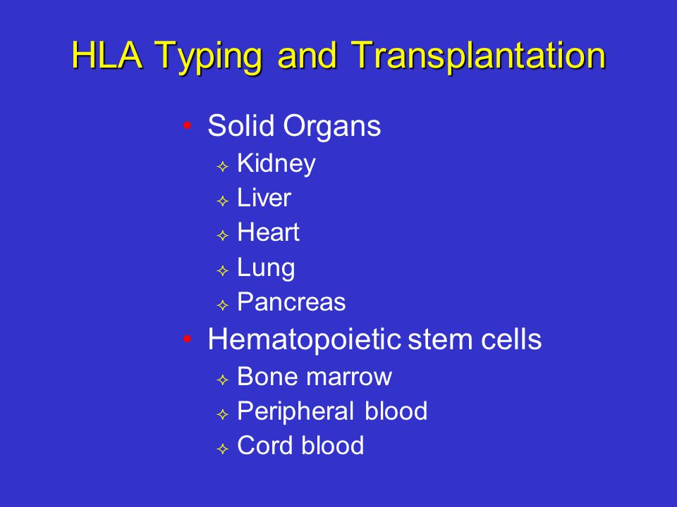 HLA Typing and Transplantation