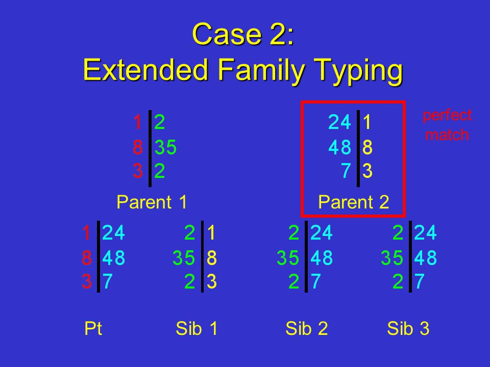 Case 2: Extended Family Typing