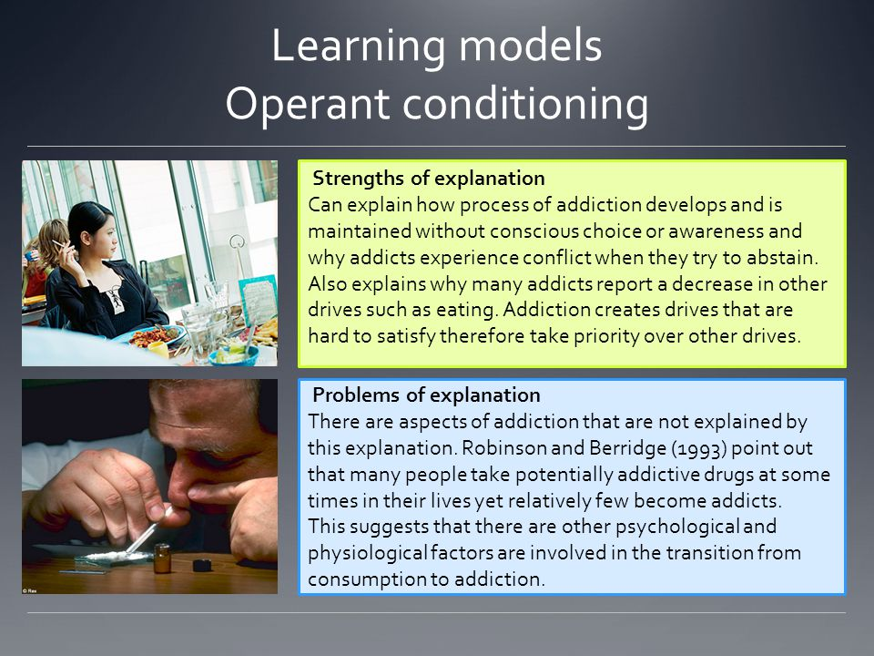 Learning models Operant conditioning