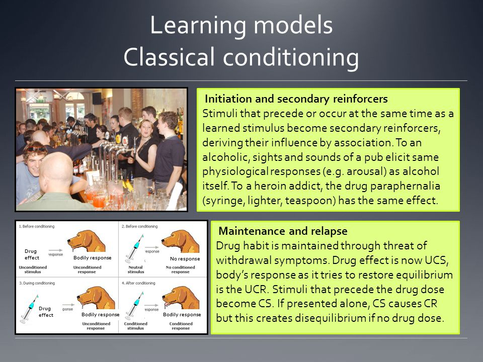 Learning models Classical conditioning