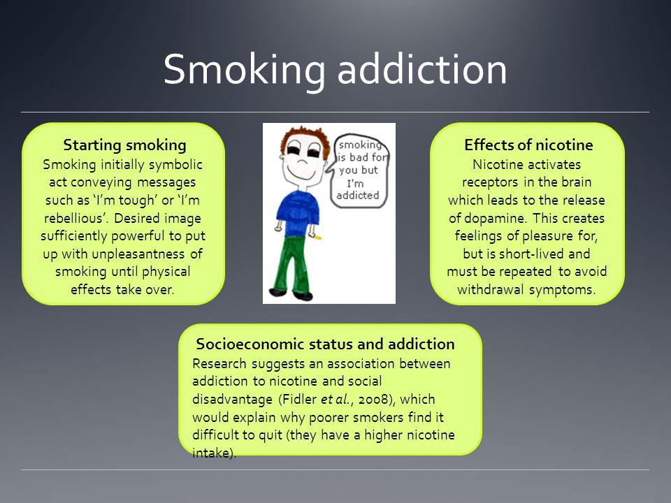 Smoking addiction Starting smoking Effects of nicotine