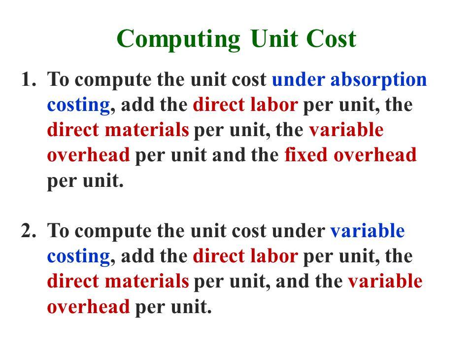 Computing Unit Cost