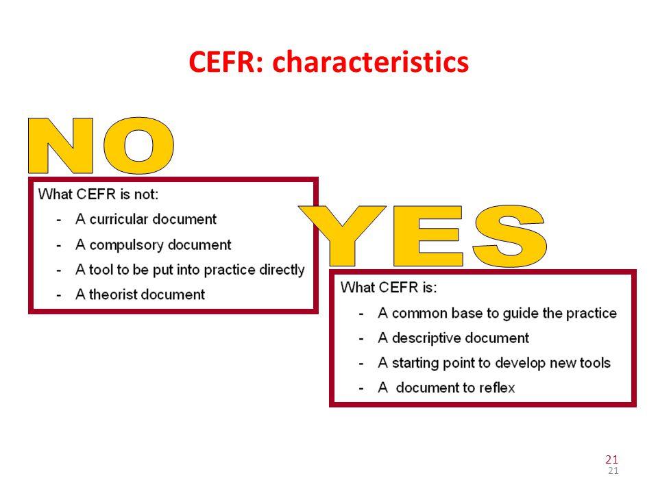 CEFR: characteristics