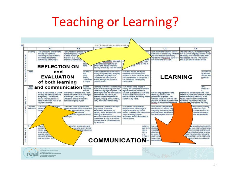Teaching or Learning