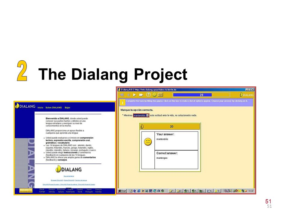 CEFR: purpose 2 The Dialang Project 51