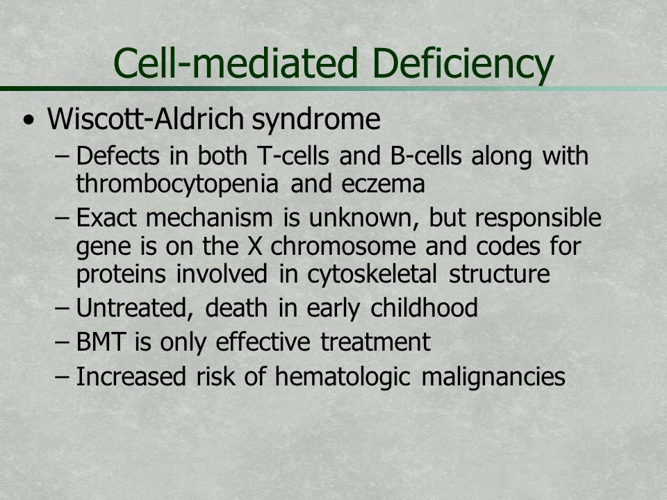 Cell-mediated Deficiency