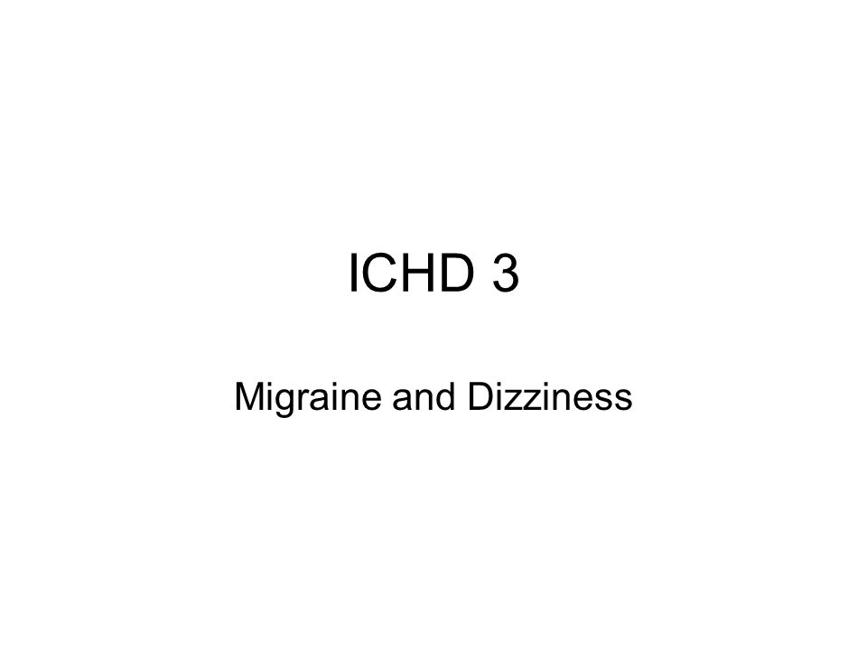 Migraine and Dizziness