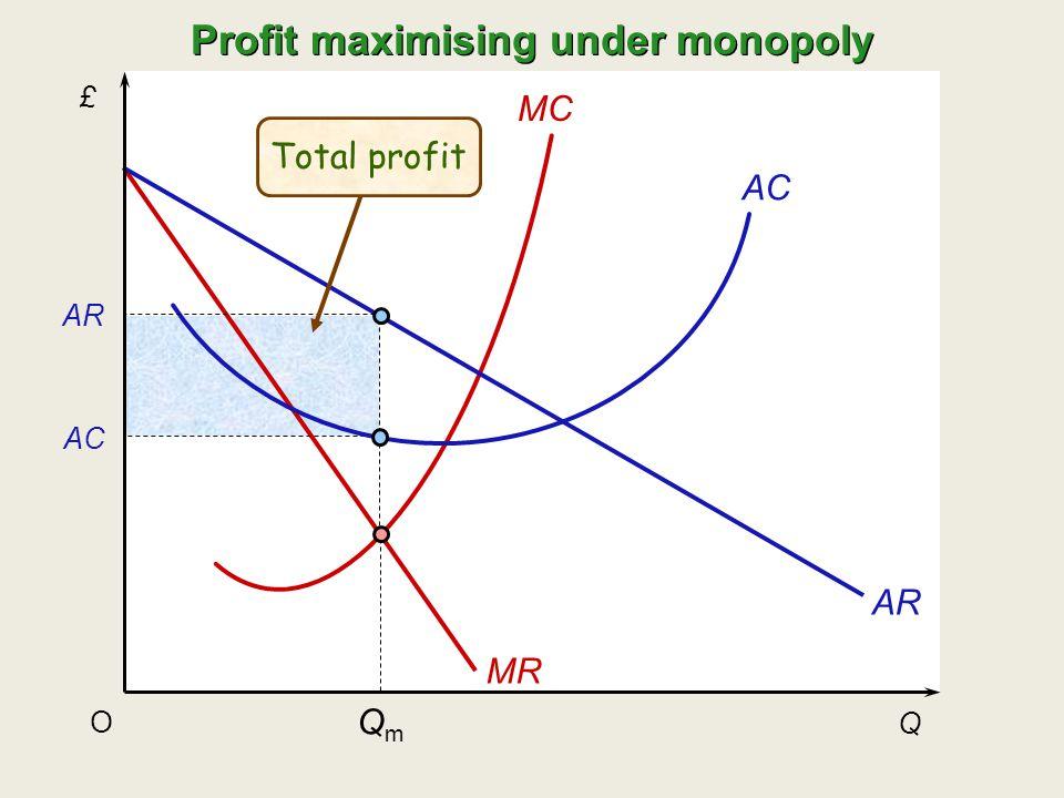 Profit maximising under monopoly