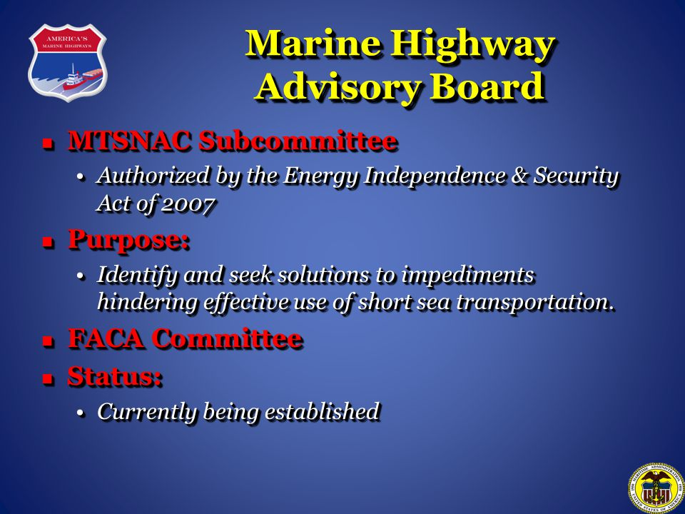 Marine Highway Advisory Board