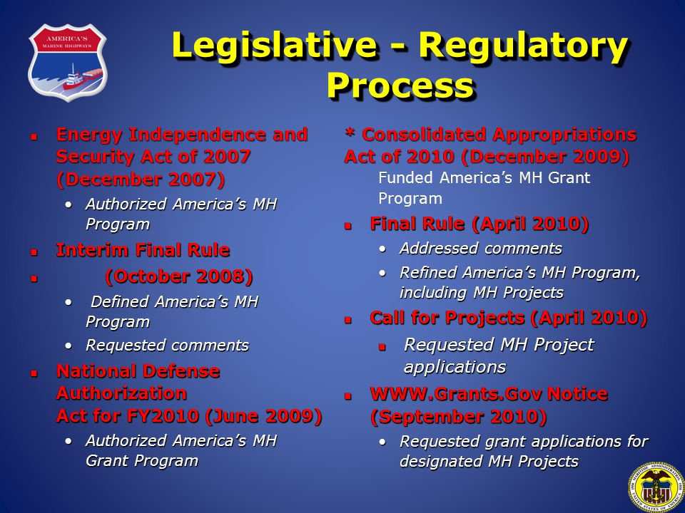 Legislative - Regulatory Process