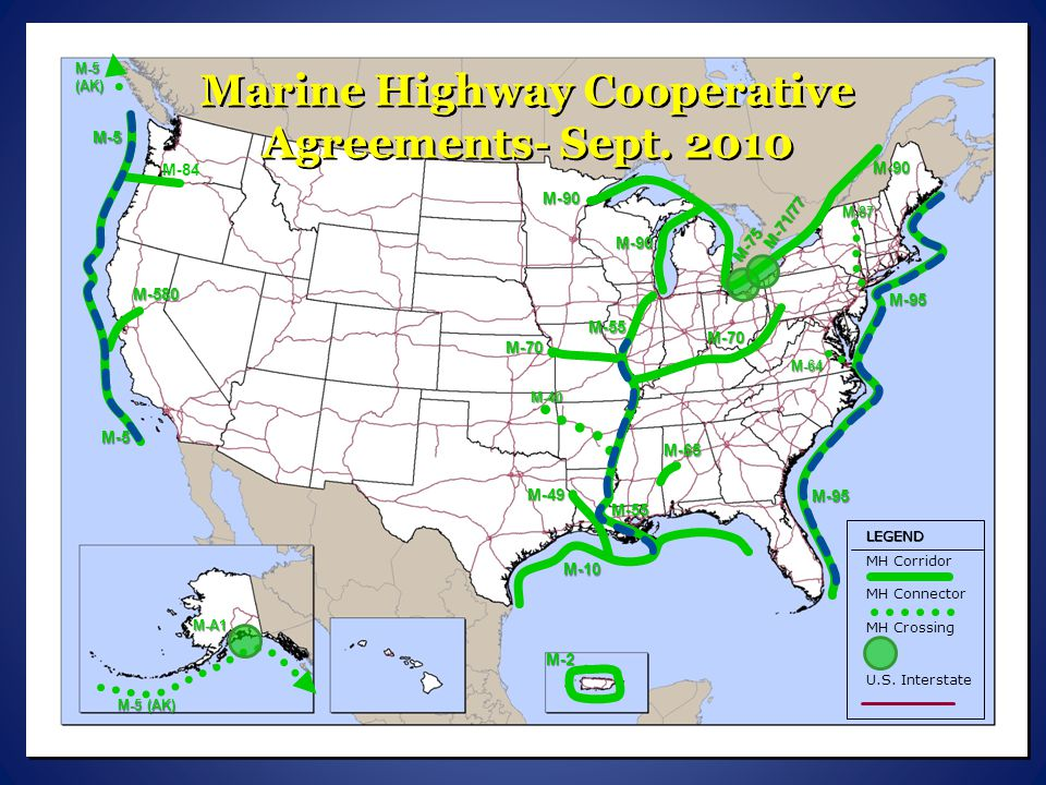 Marine Highway Cooperative Agreements- Sept. 2010