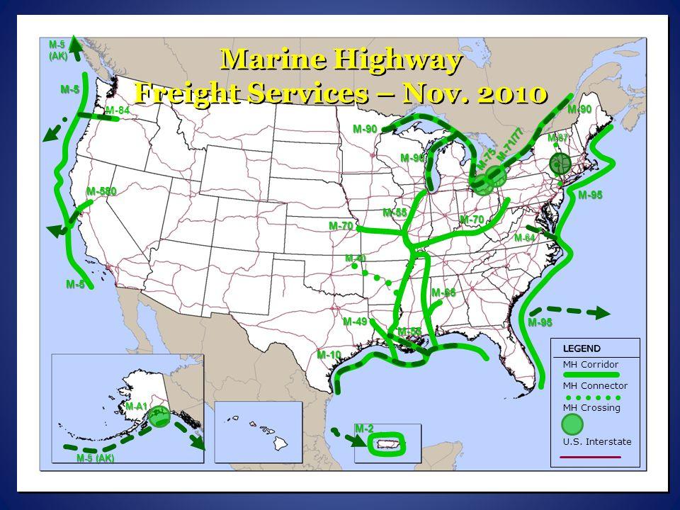 Marine Highway Freight Services – Nov. 2010